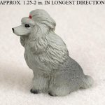 Poodle-Mini-Resin-Dog-Figurine-Statue-Hand-Painted-Gray-400205071130