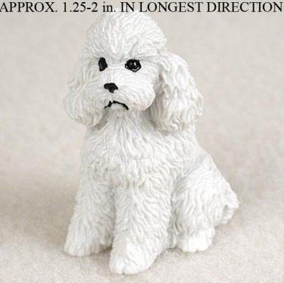 Poodle-Mini-Resin-Dog-Figurine-White-Sport-Cut-181350380199
