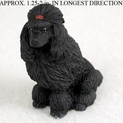 Poodle-Mini-Resin-Hand-Painted-Dog-Figurine-Black-181136206618
