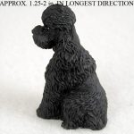 Poodle-Mini-Resin-Hand-Painted-Dog-Figurine-Statue-Hand-Painted-Black-Sport-181241850644