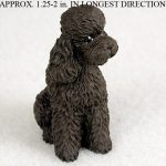 Poodle-Mini-Resin-Hand-Painted-Dog-Figurine-Statue-Hand-Painted-Chocolate-S-180675951633