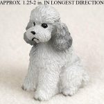 Poodle-Mini-Resin-Hand-Painted-Dog-Figurine-Statue-Hand-Painted-Gray-Sport-400220478405