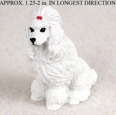 Poodle-Mini-Resin-Hand-Painted-Dog-Figurine-Statue-Hand-Painted-White-180675951670