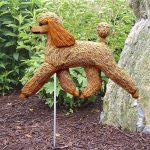 Poodle-Outdoor-Garden-Dog-Sign-Hand-Painted-Figure-Apricot-400688313936
