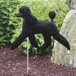 Poodle-Outdoor-Garden-Dog-Sign-Hand-Painted-Figure-Black-400688314058