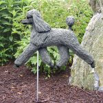 Poodle-Outdoor-Garden-Dog-Sign-Hand-Painted-Figure-Grey-181369682675