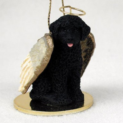 Portuguese-Water-Dog-Dog-Figurine-Angel-Statue-Ornament-400250979439