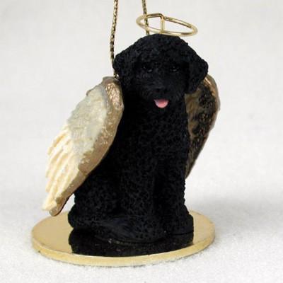 Portuguese-Water-Dog-Dog-Figurine-Angel-Statue-Ornament-400250979439