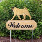 Pug-Dog-Breed-Oak-Wood-Welcome-Outdoor-Yard-Sign-Fawn-400706811325