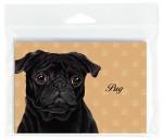 Pug-Dog-Note-Cards-Set-of-8-with-Envelopes-Black-400694672340