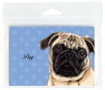 Pug-Dog-Note-Cards-Set-of-8-with-Envelopes-Tan-400694672539