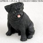 Pug-Mini-Resin-Hand-Painted-Dog-Figurine-Black-180738717325