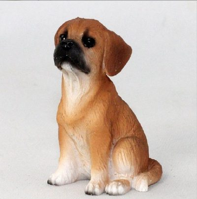 Puggle-Mini-Resin-Hand-Painted-Dog-Figurine-Brown-400679613159