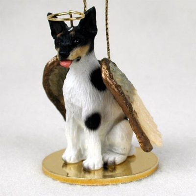 Rat-Terrier-Dog-Figurine-Ornament-Angel-Statue-Hand-Painted-180793937986