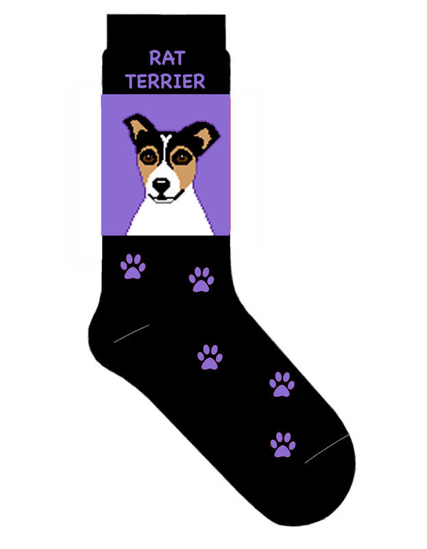 Rat Terrier Socks Lightweight Cotton Crew Stretch