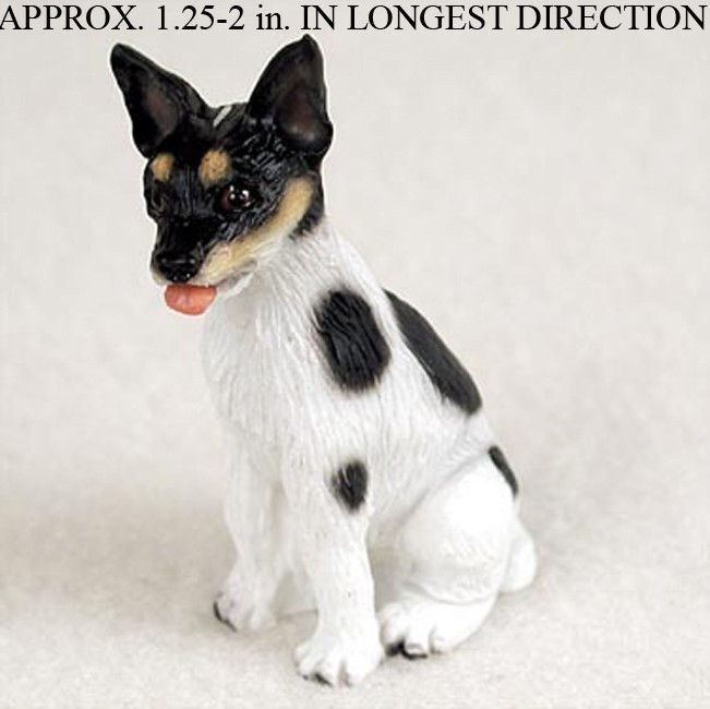 Rat Terrier Figurine Statue - Mini