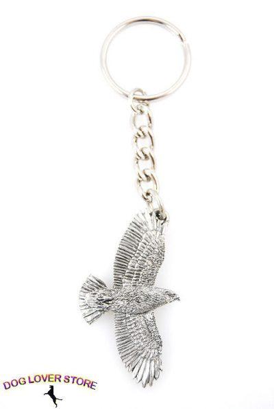 Redtail-Hawk-Flying-Bird-Fine-Pewter-Silver-Keychain-Key-Chain-Ring-181479320346