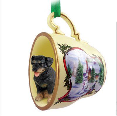 Rottweiler-Dog-Christmas-Holiday-Teacup-Ornament-Figurine-400589369576
