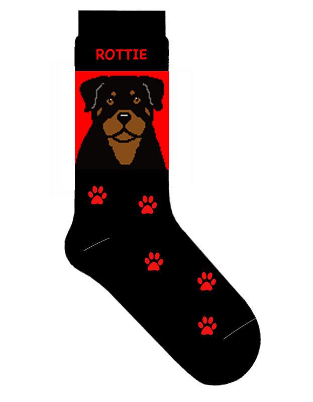 Rottweiler Socks Lightweight Cotton Crew Stretch