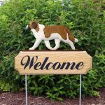 Saint-Bernard-Dog-Breed-Oak-Wood-Welcome-Outdoor-Yard-Sign-181404206377