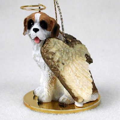 Saint-Bernard-Dog-Figurine-Angel-Statue-Rough-181136189639