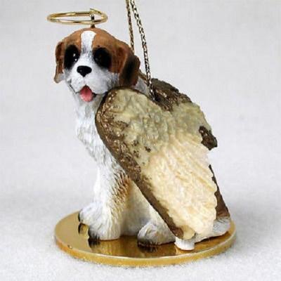 Saint-Bernard-Dog-Figurine-Angel-Statue-Rough-181136189639