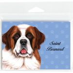Saint-Bernard-Dog-Note-Cards-Set-of-8-with-Envelopes-181382998237