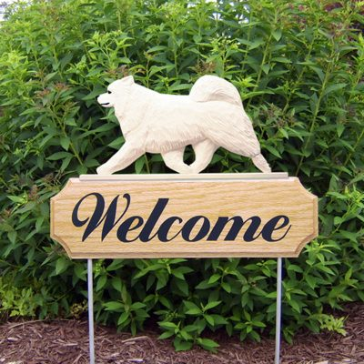 Samoyed-Dog-Breed-Oak-Wood-Welcome-Outdoor-Yard-Sign-400706812092