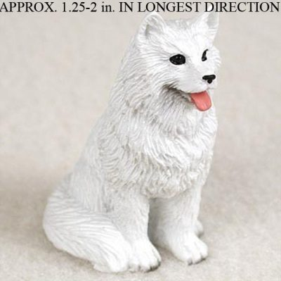 Samoyed-Mini-Resin-Hand-Painted-Dog-Figurine-181350374959