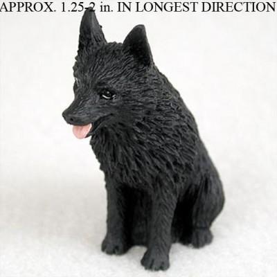 Schipperke-Mini-Resin-Hand-Painted-Dog-Figurine-400482590222