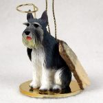 Schnauzer-Dog-Figurine-Angel-Statue-Gray-Giant-180842190334