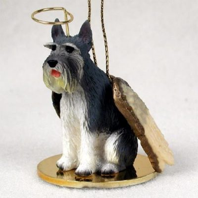 Schnauzer-Dog-Figurine-Angel-Statue-Gray-Giant-180842190334