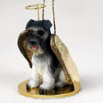 Schnauzer-Dog-Figurine-Angel-Statue-Gray-Uncropped-180741558105
