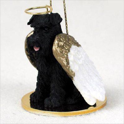 Schnauzer-Dog-Figurine-Ornament-Angel-Statue-Hand-Painted-Black-Uncrop-180853239487