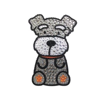 Schnauzer-Dog-Rhinestone-Glitter-Jewel-Phone-Ipod-Iphone-Sticker-Decal-400579327314