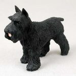 Schnauzer-Hand-Painted-Collectible-Dog-Figurine-Black-180689146121