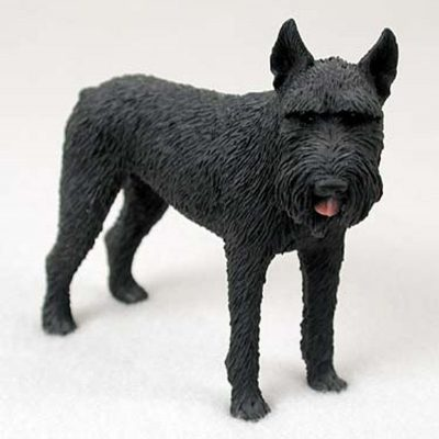 Schnauzer-Hand-Painted-Collectible-Dog-Figurine-Giant-Black-181336552635