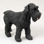 Schnauzer-Hand-Painted-Dog-Figurine-Statue-Black-400282953550