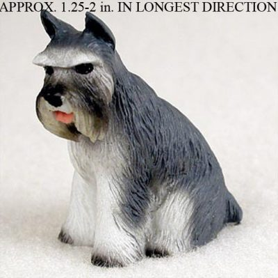 Schnauzer-Mini-Resin-Dog-Figurine-Statue-Hand-Painted-Gray-400205071220