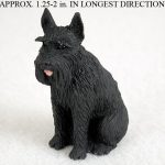 Schnauzer-Mini-Resin-Hand-Painted-Dog-Figurine-Black-Giant-400249711644