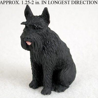 Schnauzer-Mini-Resin-Hand-Painted-Dog-Figurine-Black-Giant-400249711644