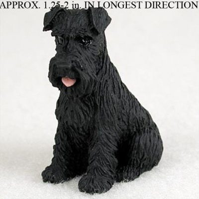 Schnauzer-Mini-Resin-Hand-Painted-Dog-Figurine-Black-Uncrop-180800309198