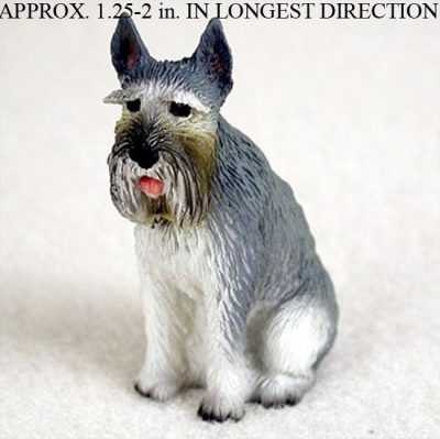 Schnauzer-Mini-Resin-Hand-Painted-Dog-Figurine-Giant-Gray-400677547104