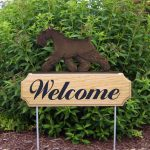 Schnauzer-Miniature-Dog-Breed-Oak-Wood-Welcome-Outdoor-Yard-Sign-Black-181404207097