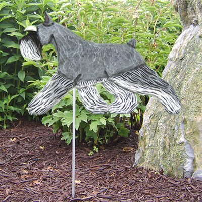 Schnauzer Salt Pepper Outdoor Garden Sign