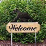 Schnauzer-Uncropped-Dog-Breed-Oak-Wood-Welcome-Outdoor-Yard-Sign-Black-400706812877