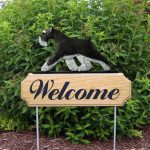 Schnauzer-Uncropped-Dog-Breed-Oak-Wood-Welcome-Outdoor-Yard-Sign-BlackSilver-400706813254