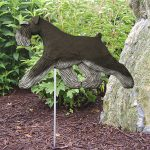 Schnauzer-Uncropped-Outdoor-Garden-Dog-Sign-Hand-Painted-Figure-BlackSilver-400688315888