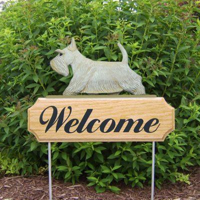 Scottish-Terrier-Dog-Breed-Oak-Wood-Welcome-Outdoor-Yard-Sign-Wheaten-400706813992