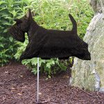Scottish-Terrier-Outdoor-Garden-Dog-Sign-Hand-Painted-Figure-Black-181369692435